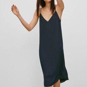 Babaton Tan Templeton Shift Maxi Dress Sz Large